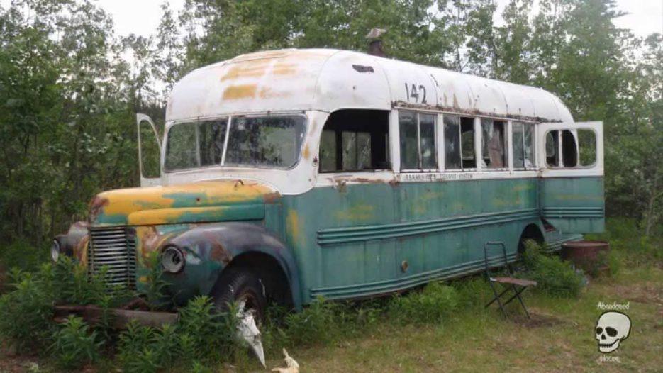 Abandoned school bus. Abandoned buses