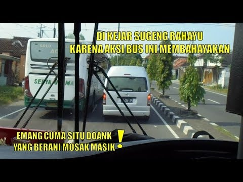 Membahayakan ! Bus Ini Langsung di Kejar Sugeng Rahayu