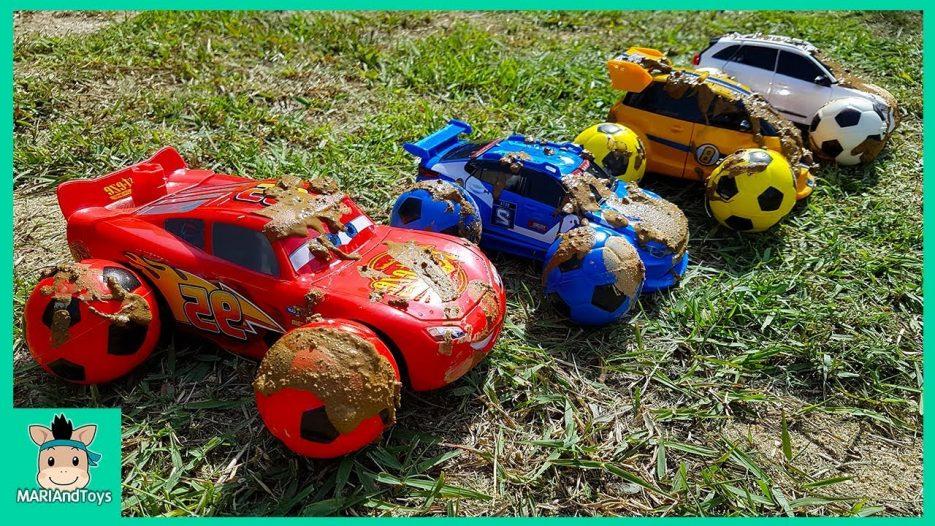Disney Cars 3 Lightning Mcqueen Change & Tayo Bus bigger and smaller transform toys   MariAndToys