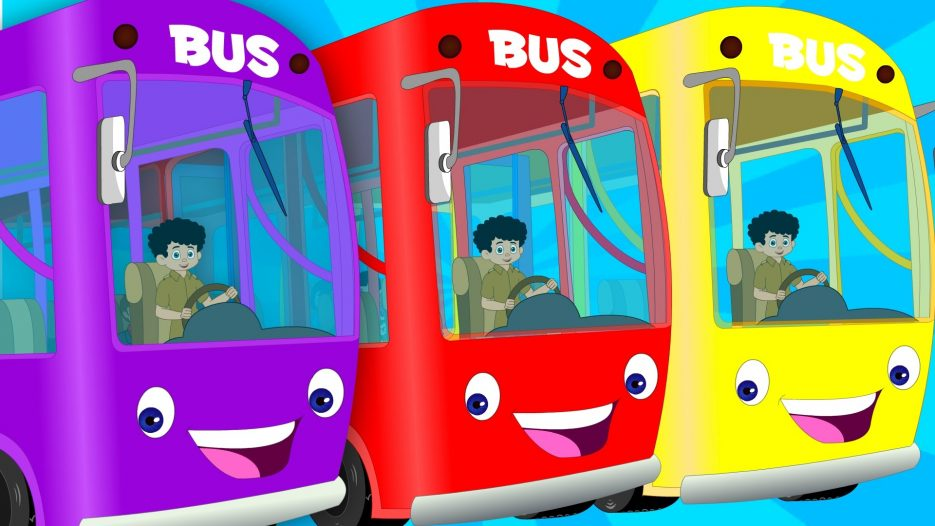 English wheels on the bus   kids playlist   kids tv baby songs   the wheels on the bus