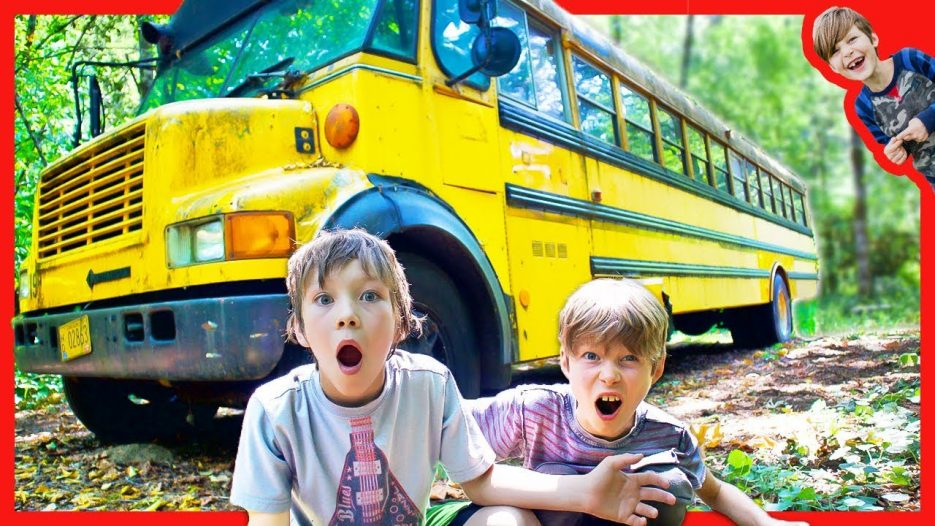 FOUND ABANDONED SCHOOL BUS IN THE WOODS (The Safe Treasure is Real)!