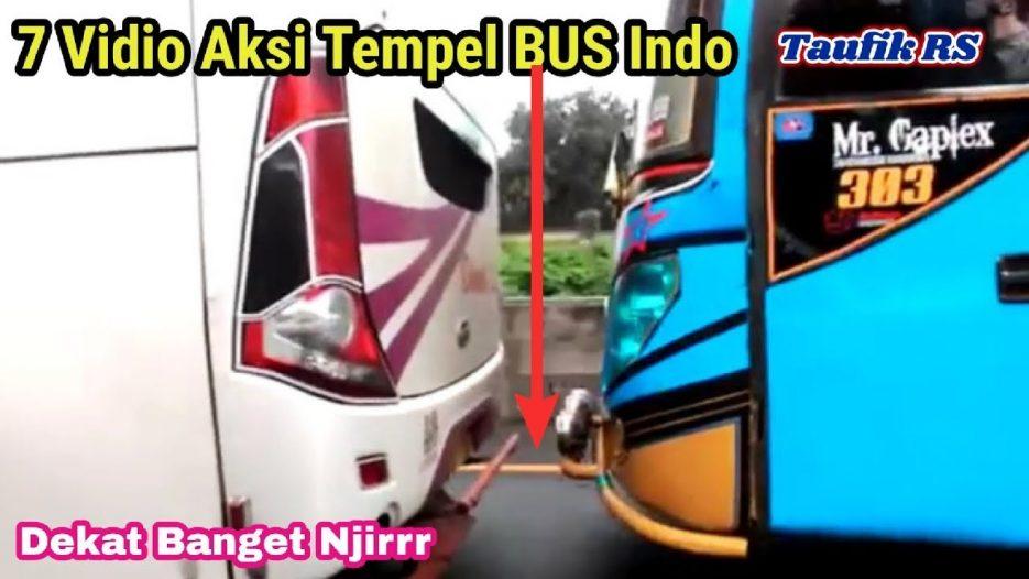 7 Vidio Aksi Tempel Supir Bus indonesia