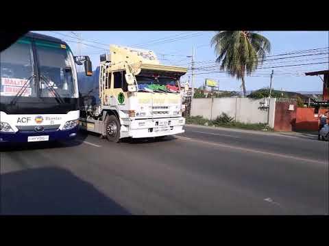 PINAKADELIKADONG KARERA SA DAVAO: 10 WHEELER TRUCK VS PAMPASAHERONG BUS VS POLICE PATROL