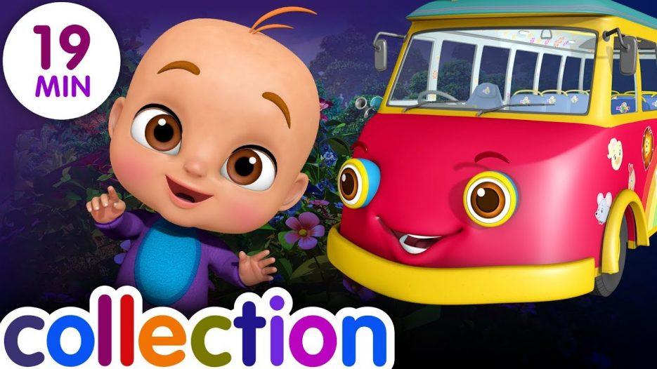 Wheels On the Bus — Dino Land, ABC Song Kids Videos | ChuChu TV Funzone 3D Nursery Rhymes for Baby