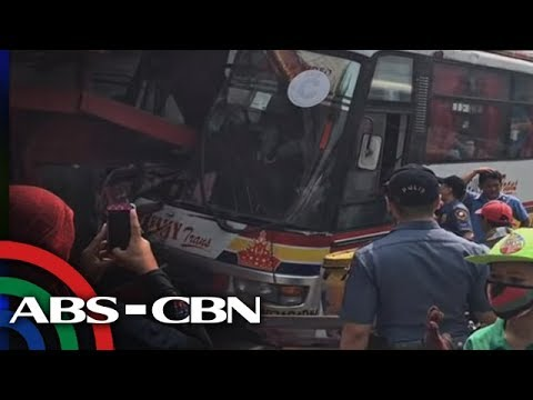 TV Patrol: Bus sumalpok sa waiting shed sa EDSA, 1 patay