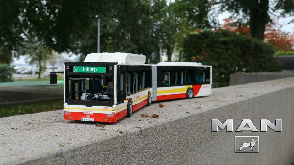 LEGO Technic MAN lion's city Articulated bus