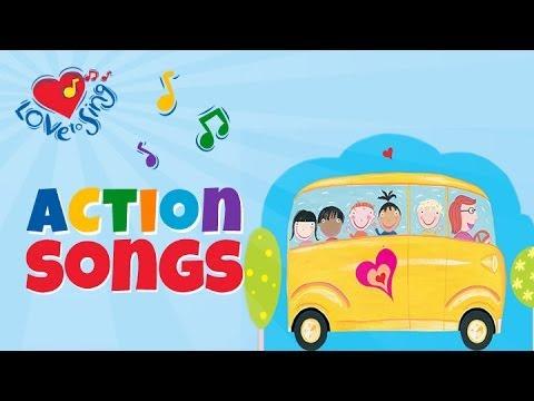 The Wheels on the Bus   Popular Kids Nursery Rhymes   Children Love to Sing