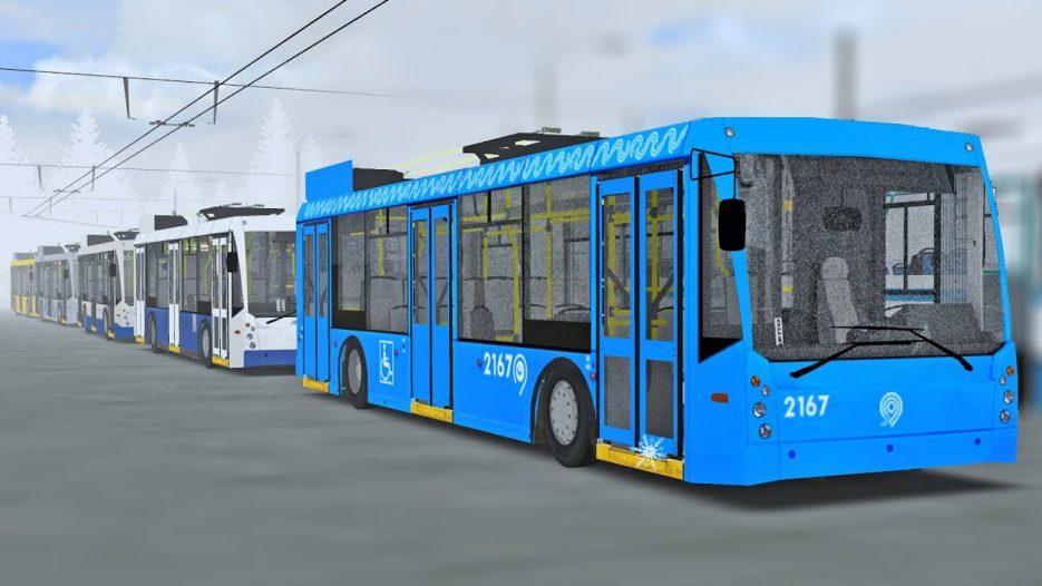 Выставка троллейбусов из городов России! ТролЗа-5265 Мегаполис из Петербурга, Москвы, Химок — OMSI 2