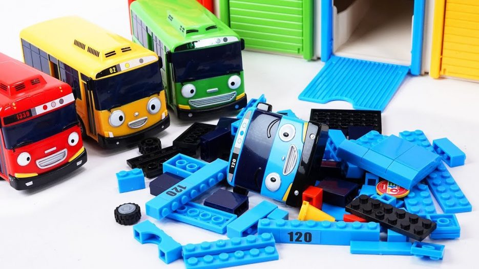 Tayo the Little Bus Friends Toys — Rogi Lani and Gani Build & Play with Tayo block Building!