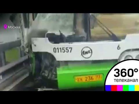 Автобус столкнулся с КАМАЗом на юго-западе Москвы