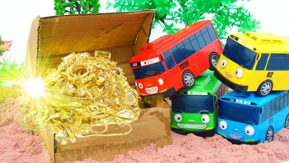 Tayo's Treasure Hunt Adventure ! Tayo the Little Bus Nursery Rhymes Johnny Johnny Yes Papa
