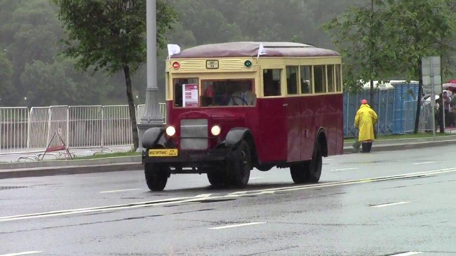 Парад автобусов в Москве 8 июля 2017 г.