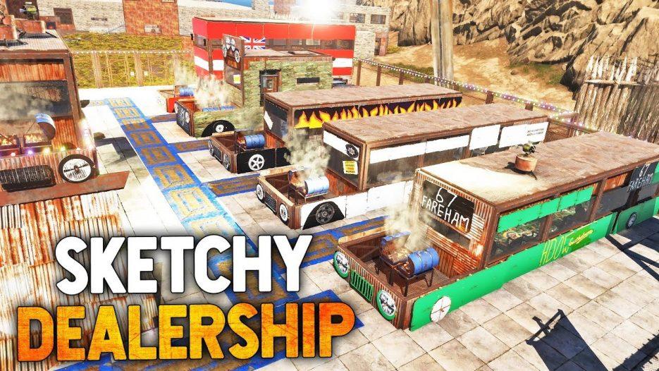 SKETCHY Used BUS Dealership in Rust!