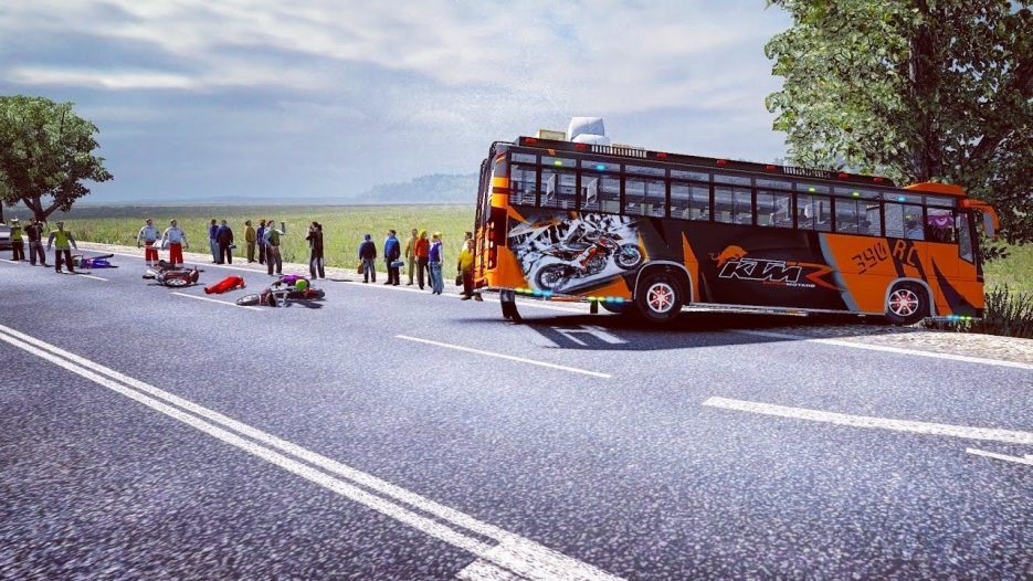 KTM Bus drive on jateng map / maruti v2 speed bus on Euro truck simulator v1.30