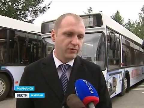 Белорусские автобусы на улицах Мурманска