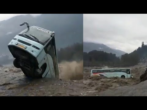 ll manali volovo BUS Accident safe all passenger ll