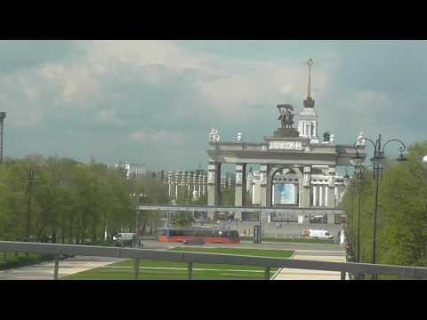 Едем в автобусе из Киева -по весенней Москве /04.05.2016/